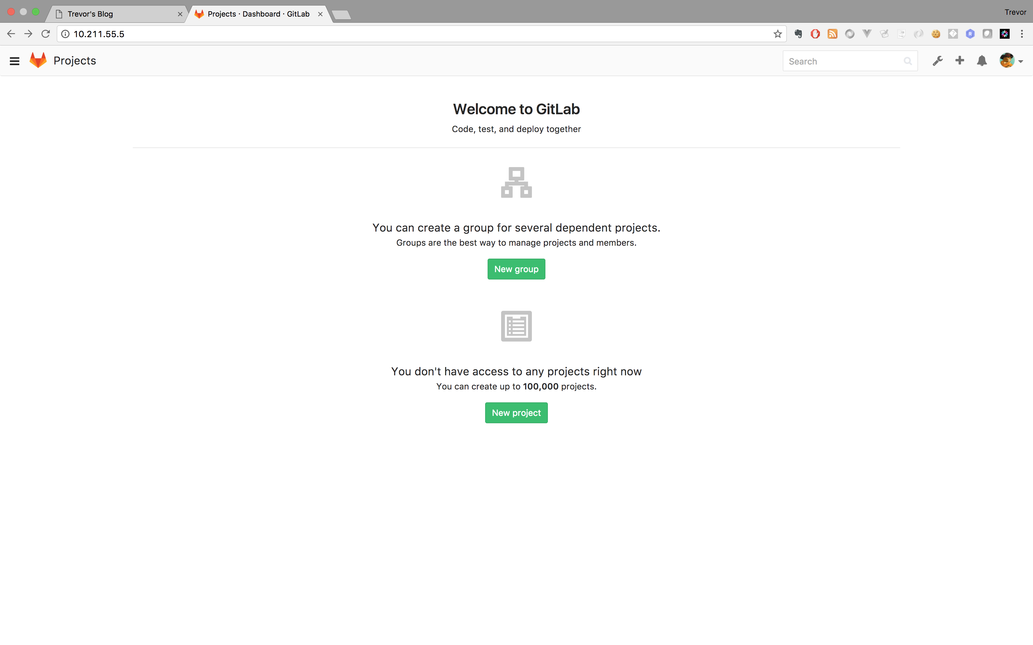 Gitlab Home Page